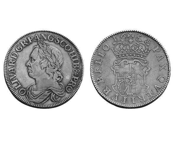 Oliver Cromwell (1649-1660), Crown, 1658/7 (S.3226).