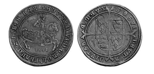Edward VI (1547-1553), fine issue Crown, 1551, mm.Y (S.2478).