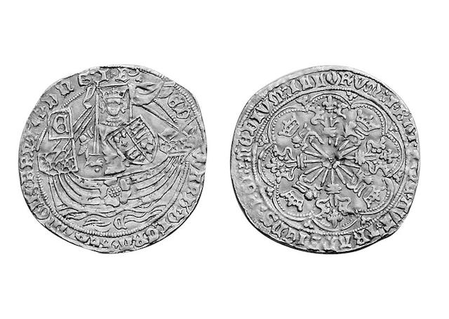 British Hammered, Edward IV (1461-1470),  light coinage Ryal (Rose-Noble), of Coventry mint, mm.sun,