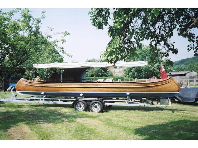 IT'LL DO. An Inboard Motor Canoe Length: 26ft.(7.92m) Beam: 4ft.10in.(2.47m) Draft: 2ft.(0.6m)