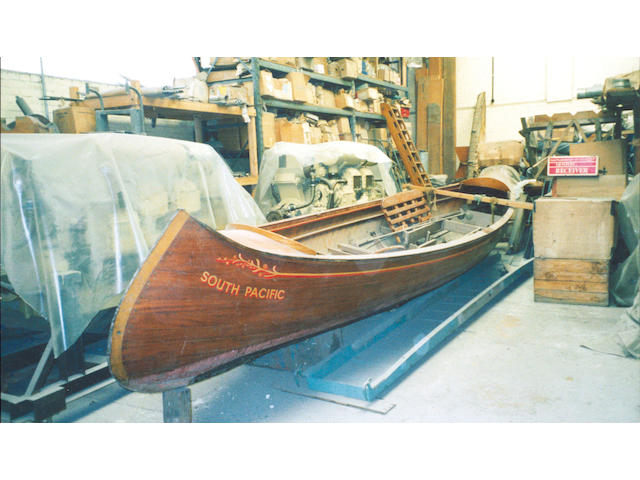 SOUTH PACIFIC. A Motor Canoe Length: 25ft.(7.62m) Beam:5ft.(1.52m) Depth:2ft.4in.(0.70m)