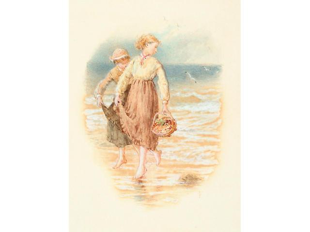 Myles Birket Foster (1825-1899) 'Two girls paddling