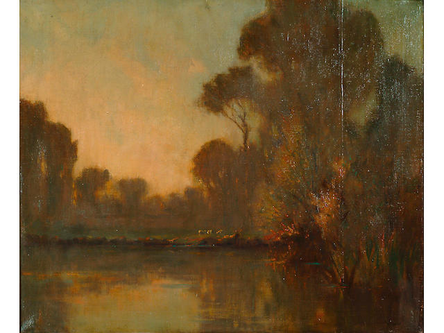 Augustus William Ennes (1876-1948) 'River landscape