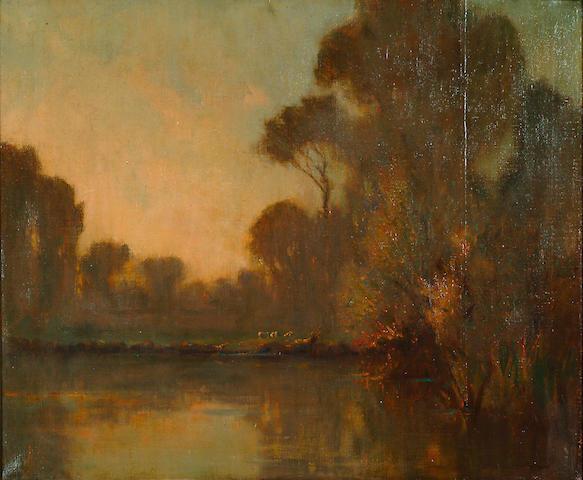 Augustus William Ennes (1876-1948) 'River landscape
