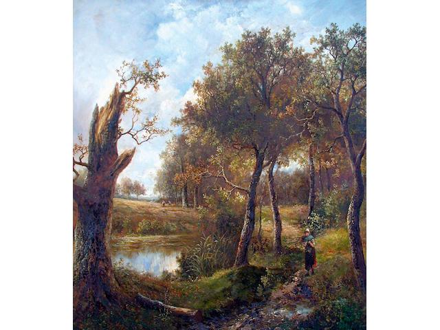 Joseph Thors (fl.1863-1900) 'View near Guildford, Surrey' 75 x 62cm (29 1/2 x 24 1/2in)