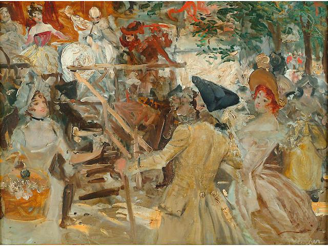 Robert Sauber (1868-1936 British) 'Fete-champetre'