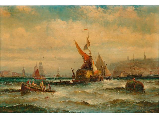 William Thornley (19th/20th Century) 'Gravesend' 19 x 29cm (7 1/2 x 11 1/2in)