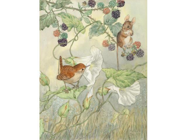 Molly Brett (British, fl.1934) The Four Seasons each 20 x 15 cm, (4).