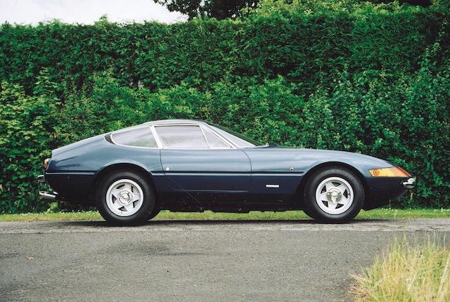 The ex-London Motor Show, 2,800 miles from new,1971 Ferrari 365GTB/4 Daytona Berlinetta