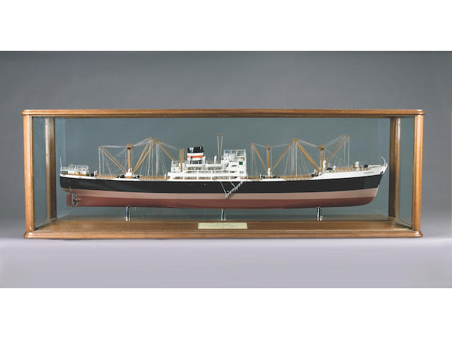 A Builder's model of MV BARRISTER 1954