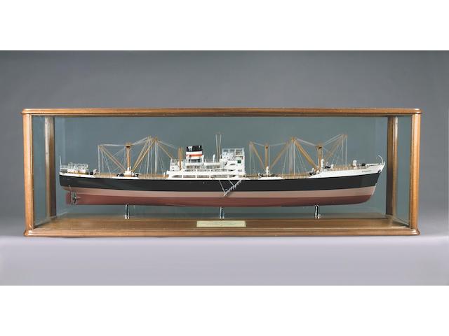 A Builder's model of MV BARRISTER 1954