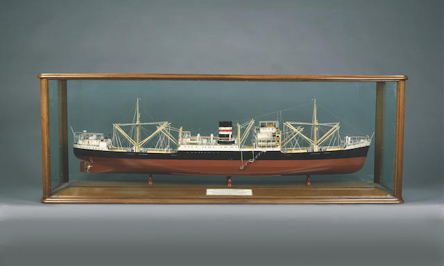 A Builder's Model of the MV INTERPRETER 1948