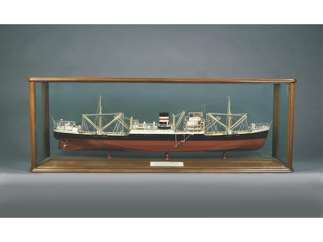 A Builder's Model of the MV INTERPRETER 1948