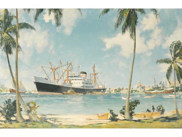 ADMINISTRATOR at Dar es Salaam John Stobart 60x90 oil on canvas