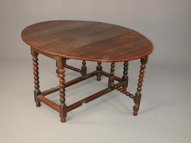 Charles II oak gate leg table