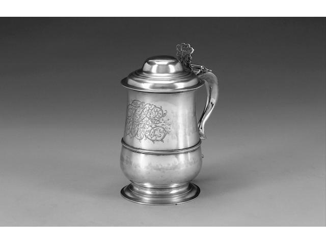 A George III silver tankard by John King, London 1774,