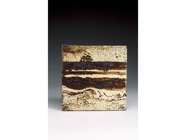 A Bernard Leach stoneware tile