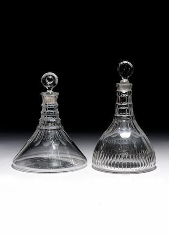 SHIP'S DECANTER (STOPPER NOT ORIGINAL) POURING LIP REDUCED (1805)