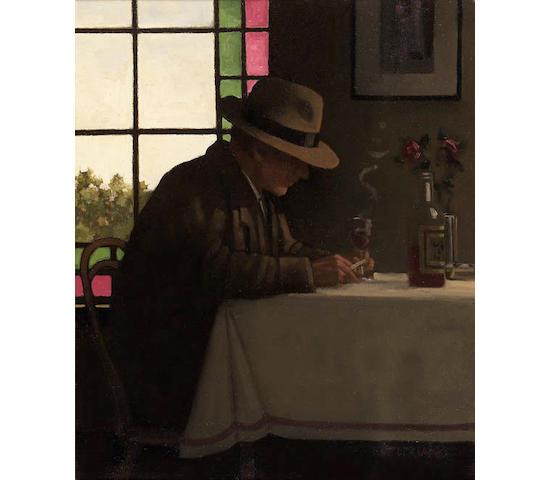 """Jack Vettriano O.B.E. (b.1954) """"Dark, Dark Days"""" 60cm x 50cm (24in. x 25in.)"""