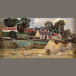 Robert Noble R.S.A. P.S.S.A. (1857-1917) East Linton 11.5cm x 22cm (4.5in. x 8.75in.)
