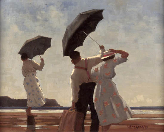 "Jack Vettriano O.B.E.(b.1954) ""The Bathing Party II"" 40.5cm x 51cm (16in. x 20in.)"