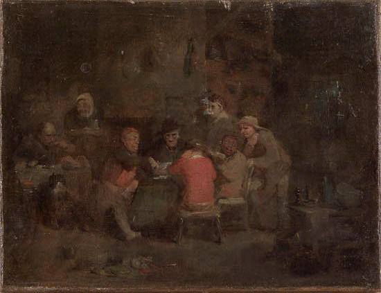 "Sir David Wilkie R.A. (1785-1841) ""The Card Players"" 23cm x 30cm (9in. x 12in.)"