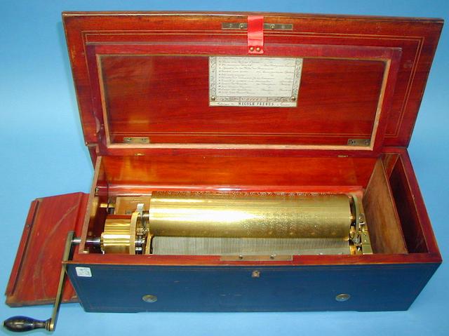 A Nicole-Freres two-per-turn key wind musical box,