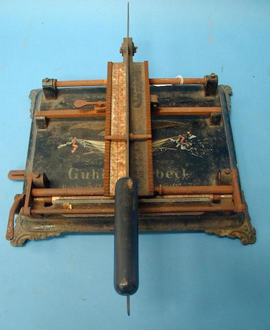 A hammonia typewriter by Guhl & Harbeck,