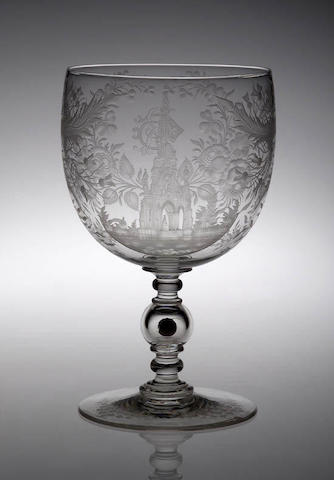 A fine and large Victorian Edinburgh Presentation Goblet, circa 1874, 26.5cm high,