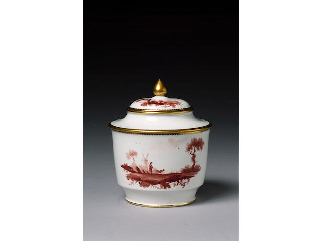A Neale porcelain sucrier and cover circa 1785-90