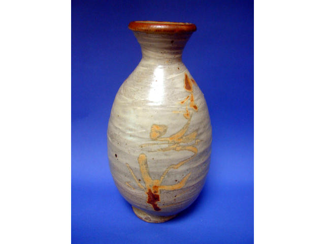 Jim Malone: Stoneware vase, 32cm high.
