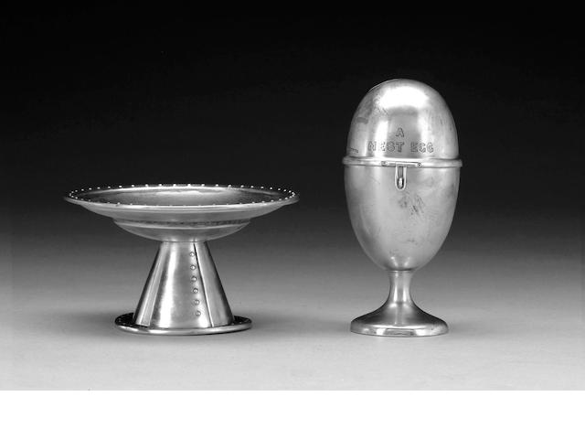 A quantity of silver items,