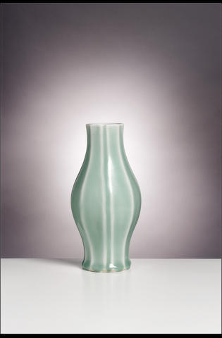 A celadon-glazed vase Yongzheng/early Qianlong