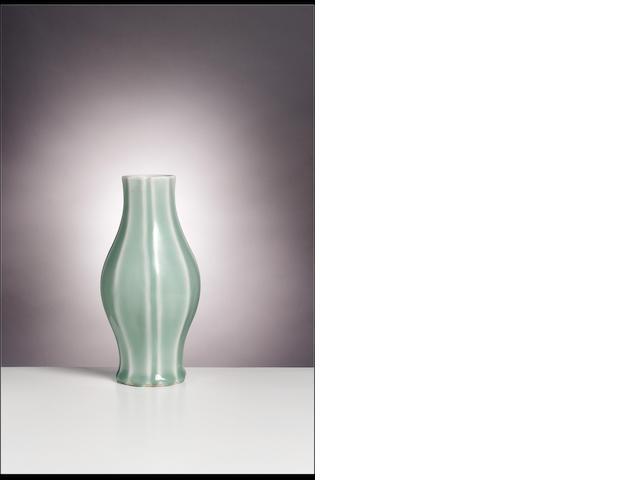 A celadon-glazed vase Qianlong