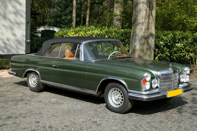 1971 Mercedes-Benz 280SE 3.5 Cabriolet Coachwork by Sindelfingen  Chassis no. 111027-12-004053