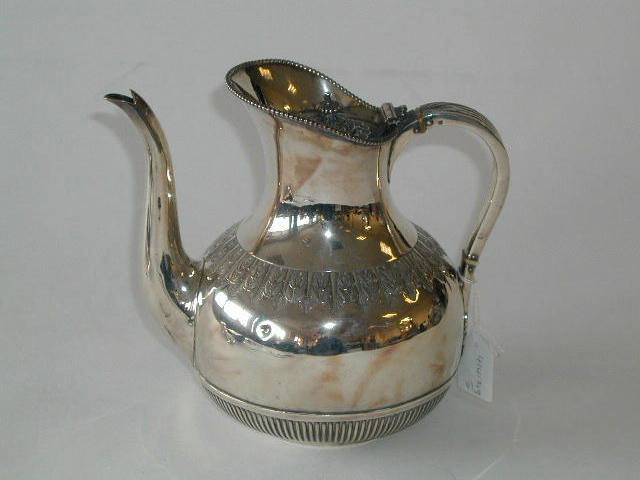 A Victorian baluster teapot, by Frederick Sibray and Job Frank Hall, Sheffield 1883,