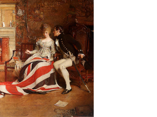 George William Joy (British 1844-1925) The First Union Jack 178 x 142 cm. (70 x 56in.)