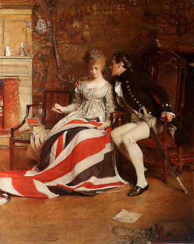 George William Joy (British 1844-1925) The First Union Jack 178 x 142 cm. (70 x 56in.)