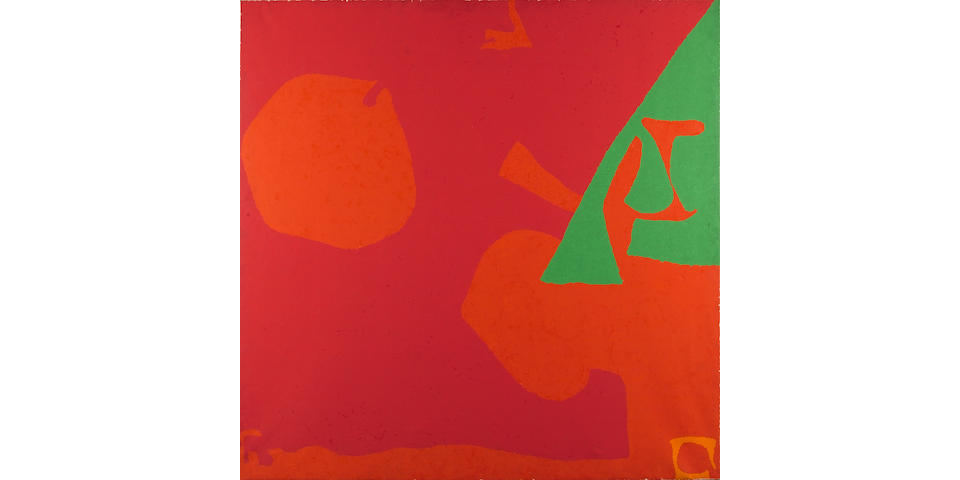Patrick Heron (1920-1999) Shostakovitch Reds and Green: May 1981