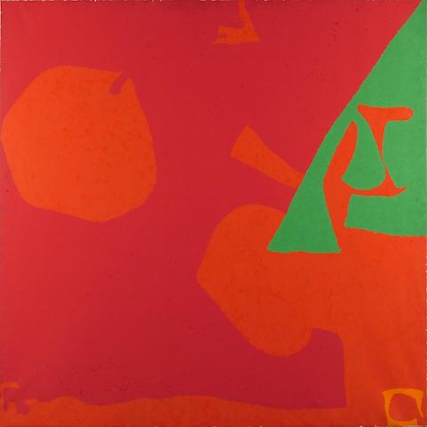 Patrick Heron (1920-1999) Shostakovitch Reds and Green: May 1981