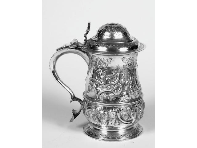 An early tankard, later embossed