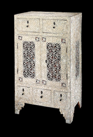 An Ottoman marquetry wood Cabinet Turkey, early 19th Century