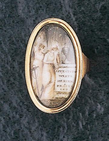 A Georgian memorial ring,