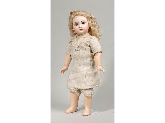 A good Depose Tete Jumeau bisque head doll, circa1890