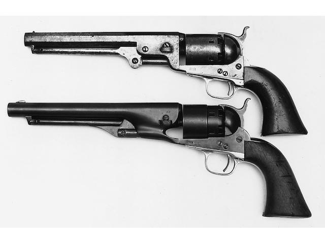 A six shot Colt Navy percussion revolver,