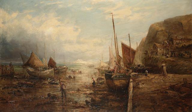 William Edward Webb (British, 1862-1903) A coastal scene 76.2 x 127cm. (30 x 50in.)