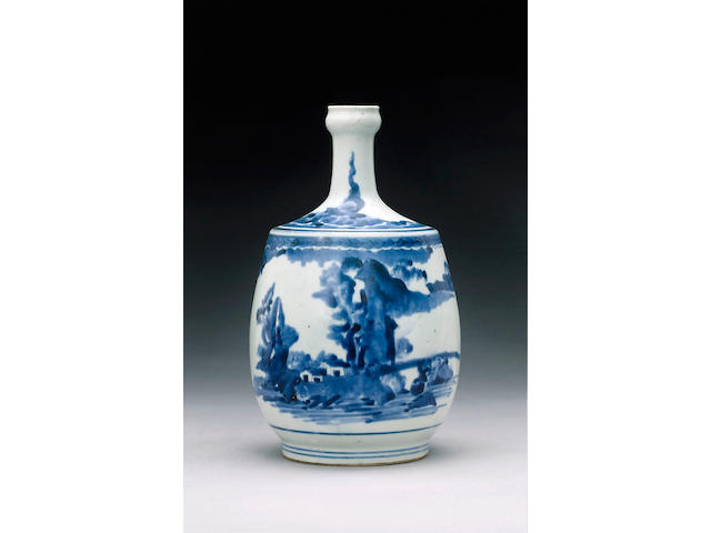 An Arita bottle vase,