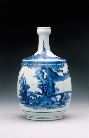 An Arita bottle vase,