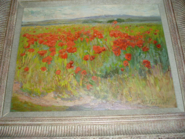 Harry P. Friswell, R.B.A. (exh. 1881-1906) The poppy fieldSigned, oil on panel,
