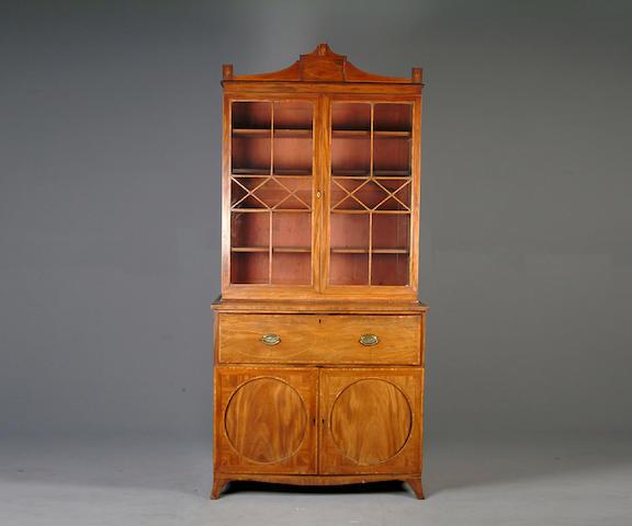 A George III secretaire bookcase